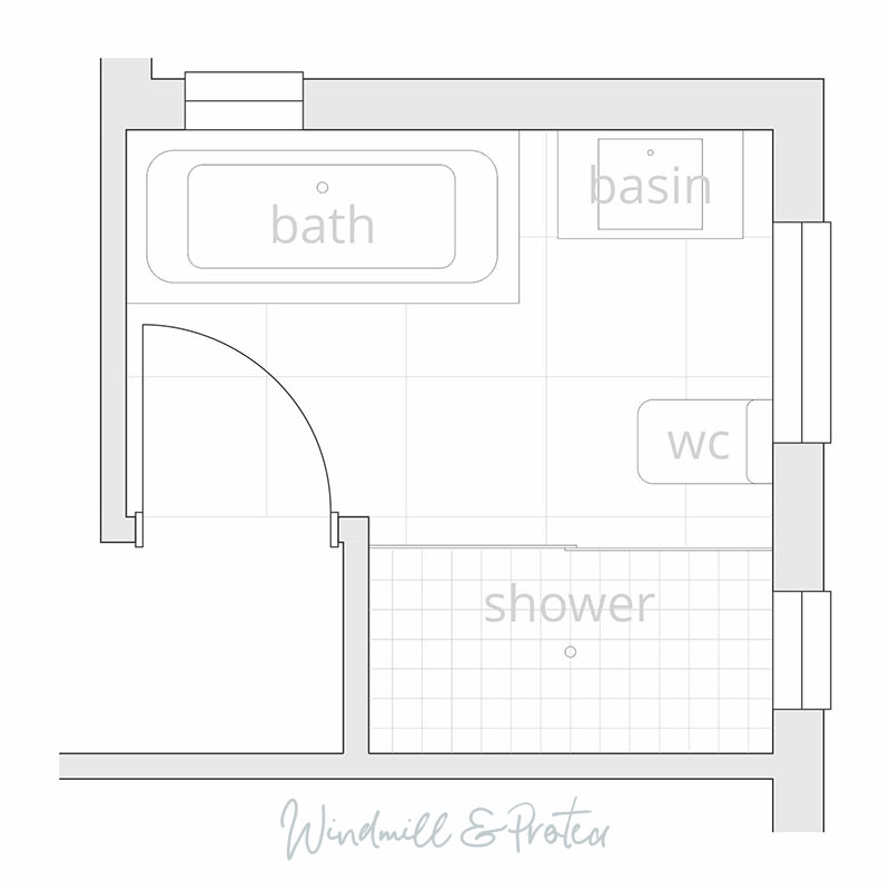 Bathroom Remodel Planning - New floor plan - 07 | www.windmillprotea.com