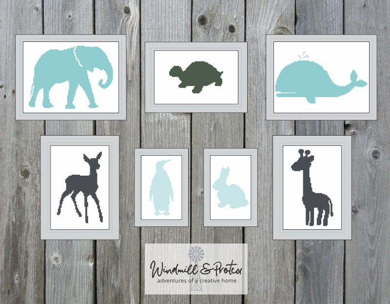 Animal Silhouette Cross Stitch - Animal Silhouette Patterns - 04 | www.windmillprotea.com