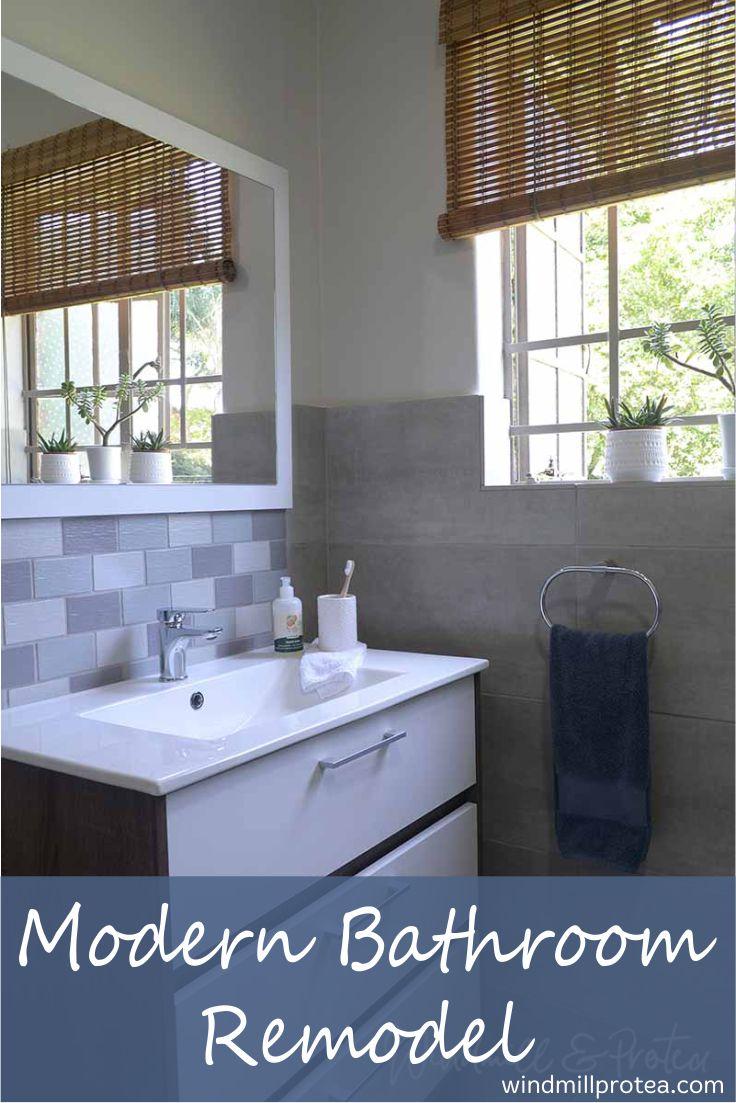 Modern Bathroom Remodel, Room Reveal