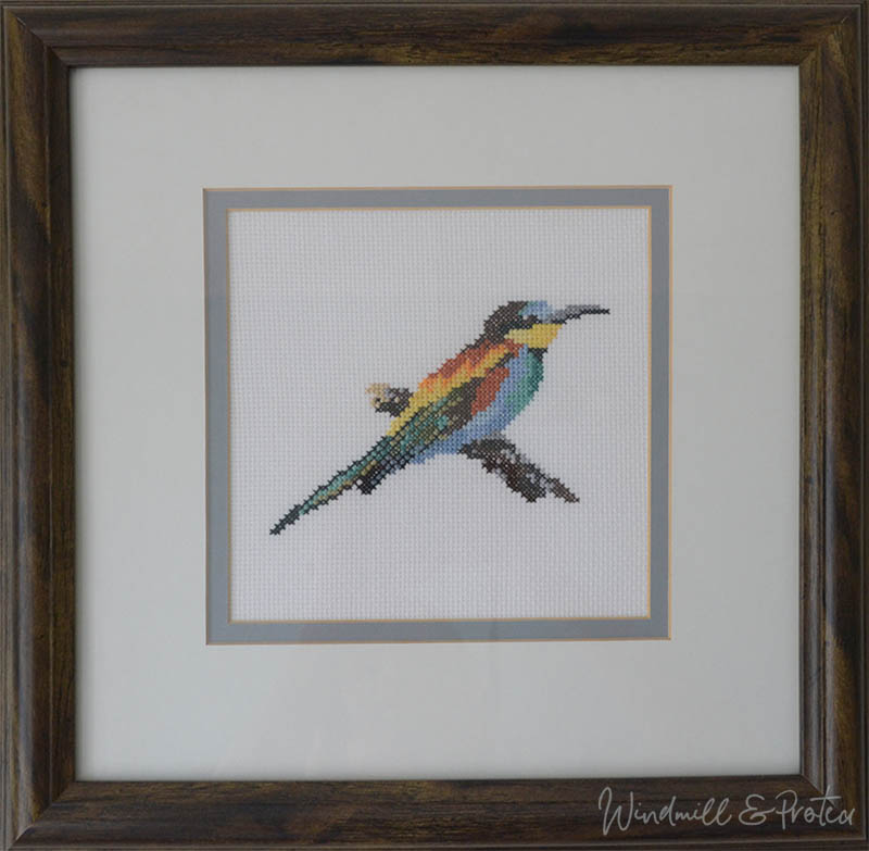Beautiful Birds Cross Stitch Designs and Free Patterns - European Bee-Eater | www.windmillprotea.com