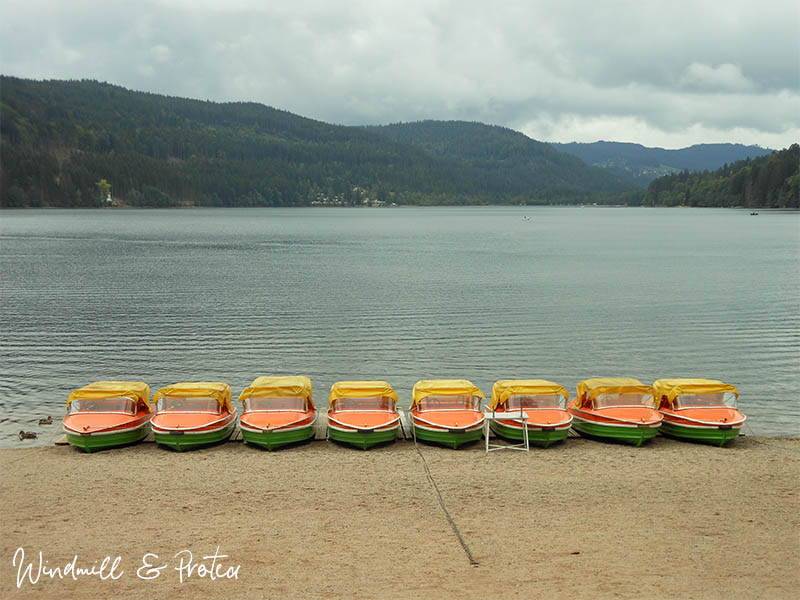 European Landscape Printables - Boats at Titisee Neustadt   www.windmillprotea.com
