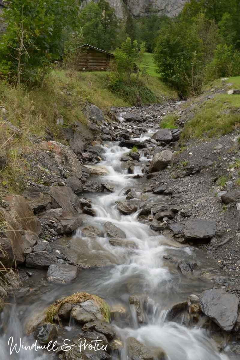 European Landscape Printables - Stream near Lauterbrunnen | www.windmillprotea.com