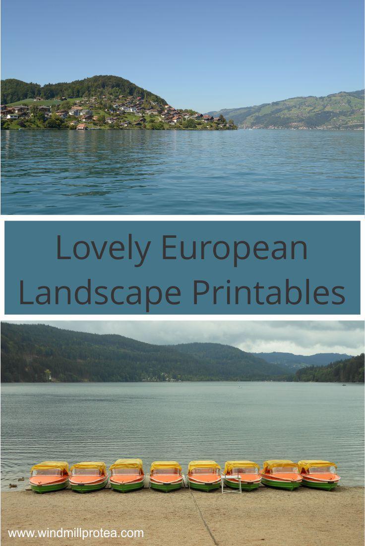 European Landscape Printables | www.windmillprotea.com