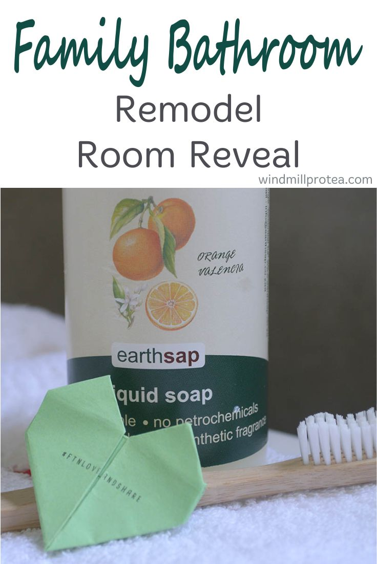 Family Bathroom Room Reveal + Green living product ideas