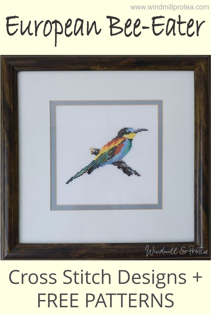 Free patterns for cross stitch designs of beautiful Southern African Birds