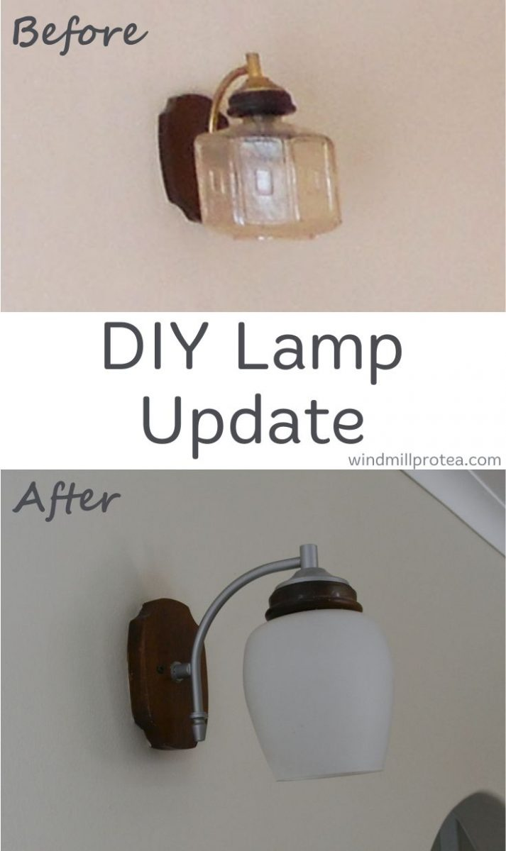 Easy DIY lamp update before and after