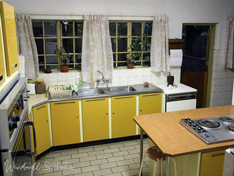 Retro Kitchen Revamp - Before, view of sink | www.windmillprotea.com