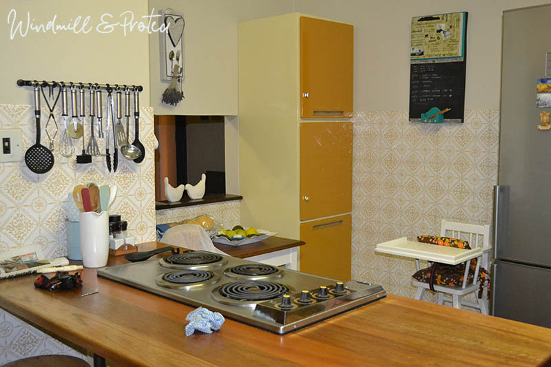 Retro Kitchen Revamp - New counter top | www.windmillprotea.com
