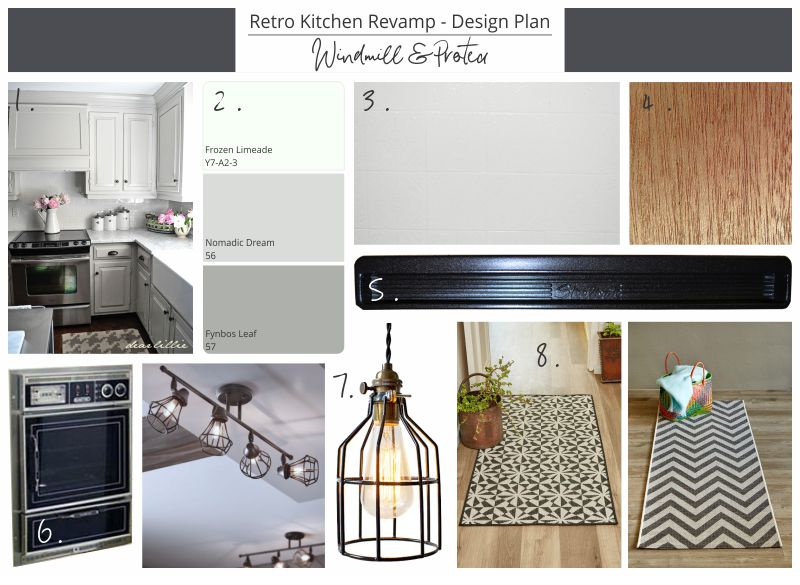 Retro Kitchen Revamp - Design Plan | www.windmillprotea.com