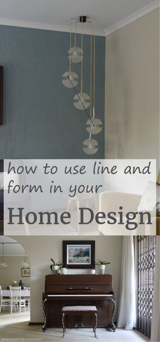 How to use line and form in your home design