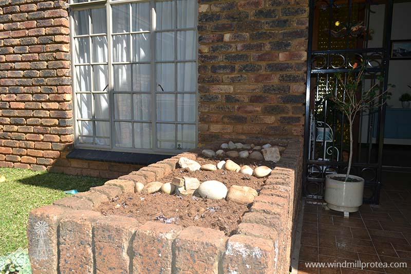 New soil worked in and rocks placed | www.windmillprotea.com