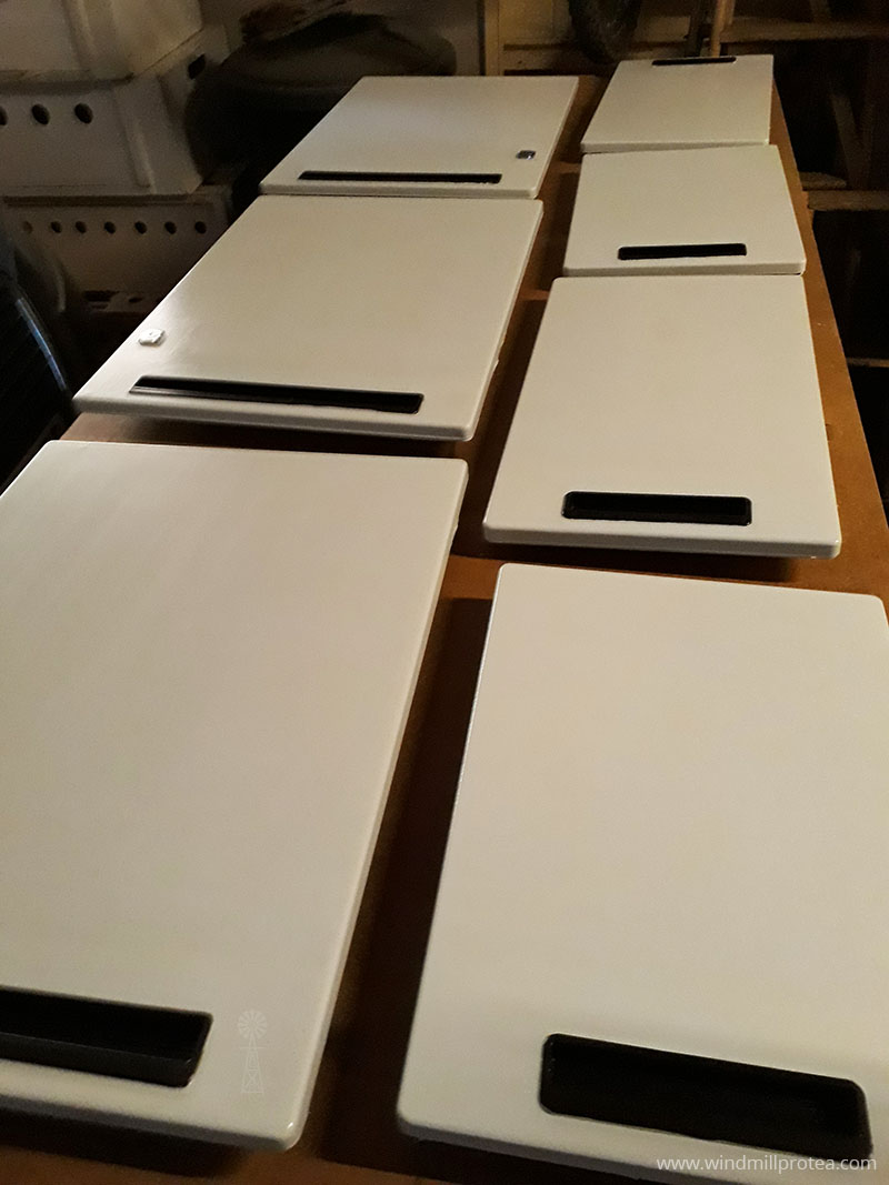 Doors lined up for painting | www.windmillprotea.com