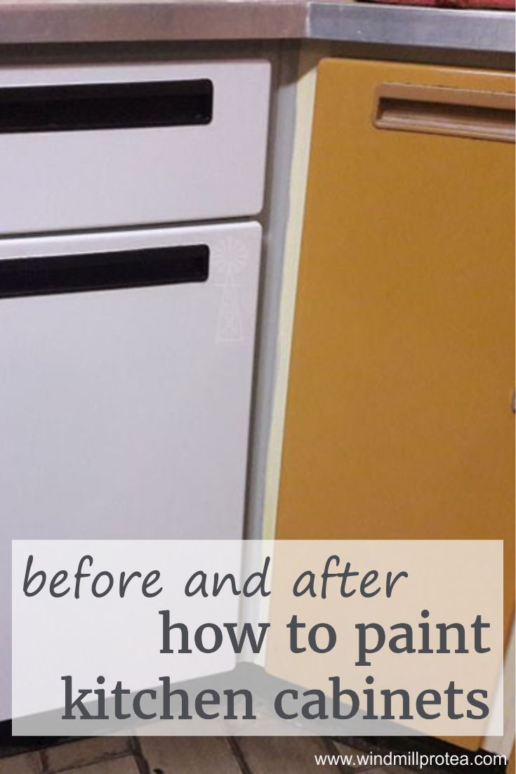 Before and After, How to Paint Kitchen Cabinets