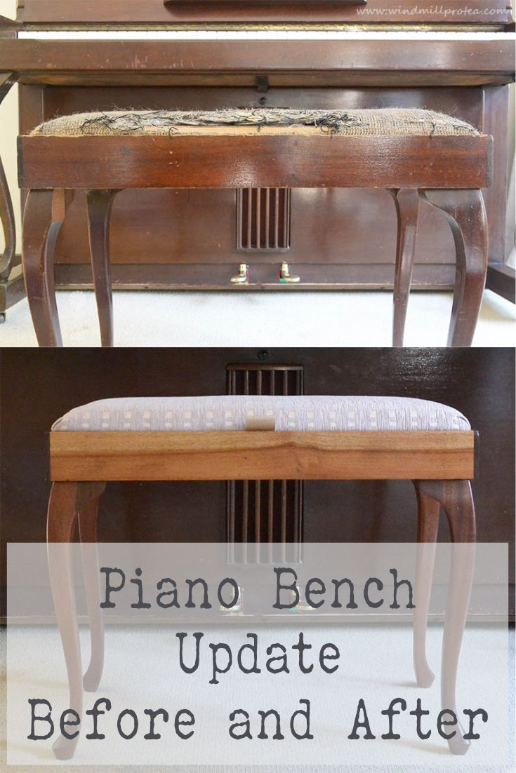 Piano Bench update, Before and After