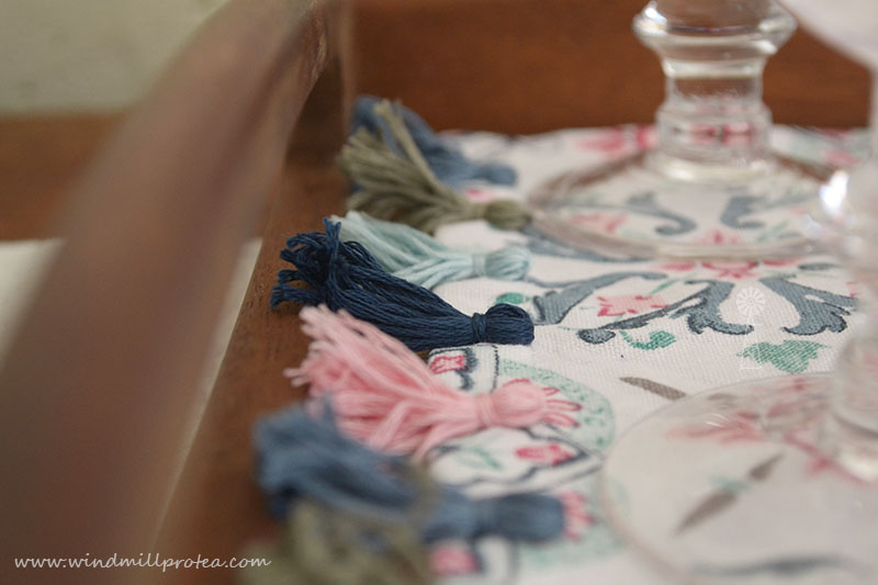 Pretty tassels on tea-towe | www.windmillprotea.com