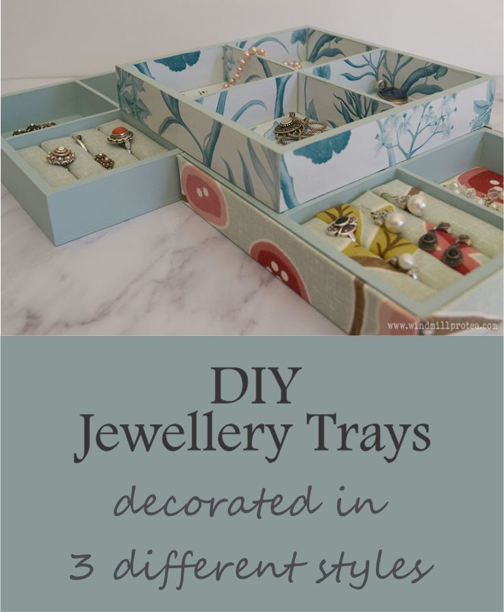 DIY Jewellery Trays, Decorated in three different styles | www.windmillprotea.com