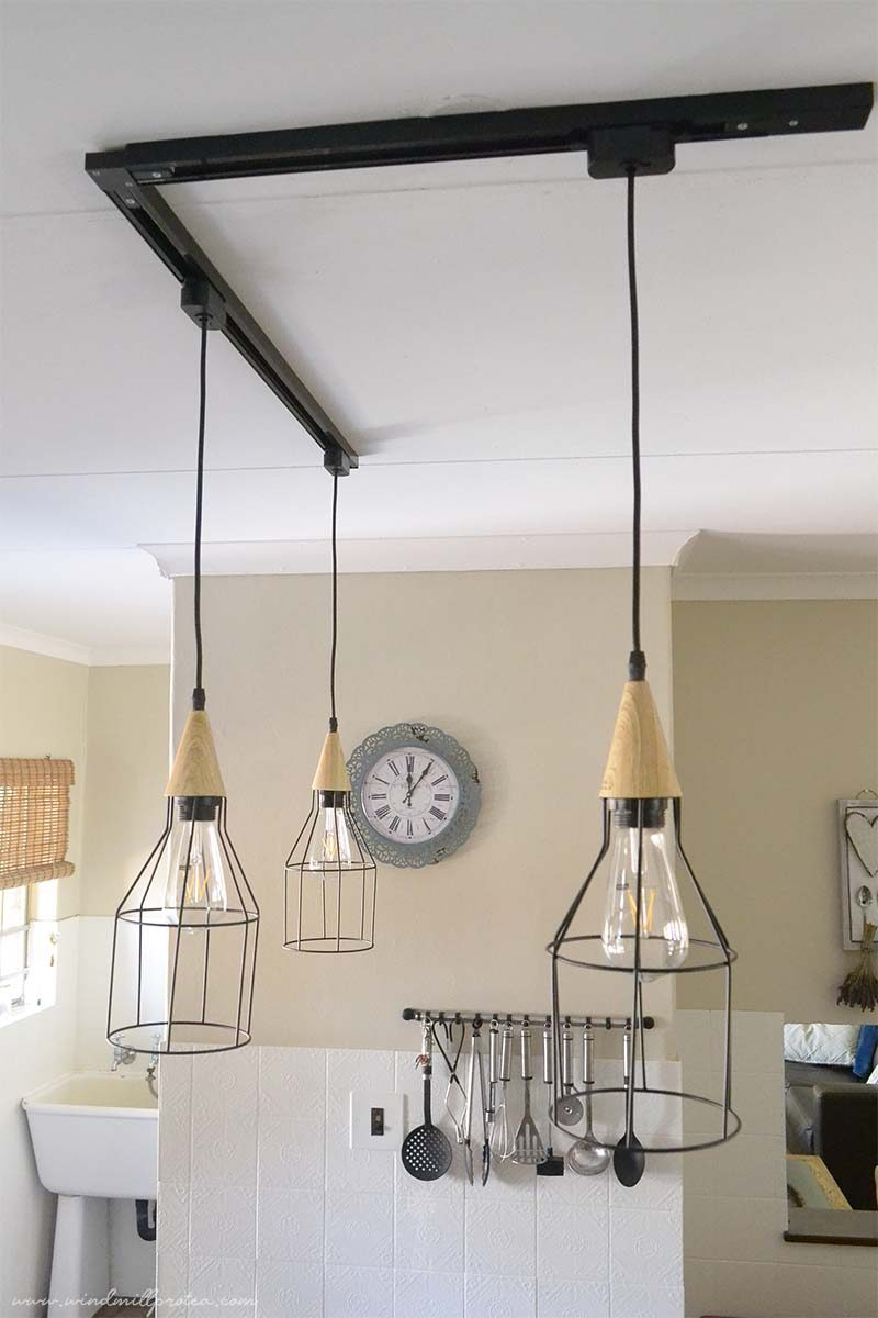 Caged Pendant Track Light