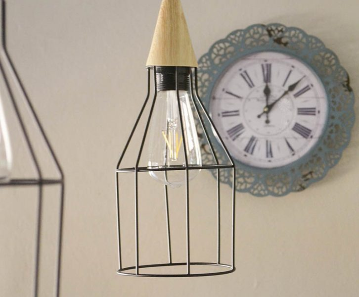 DIY Caged Pendant Track Light | www.windmillprotea.com