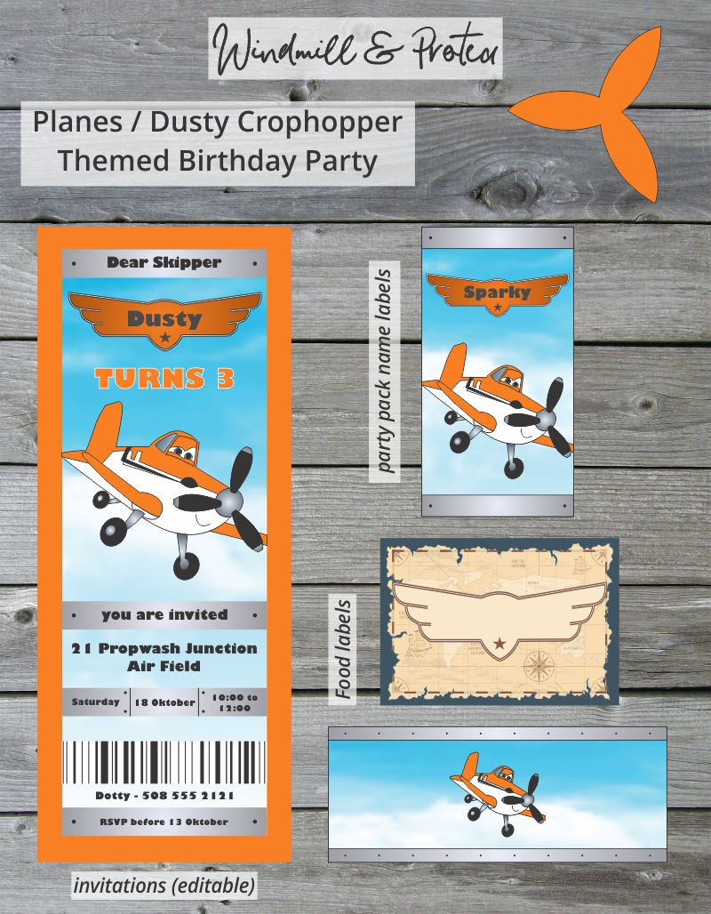 Printable set - Planes Party | www.windmillprotea.com