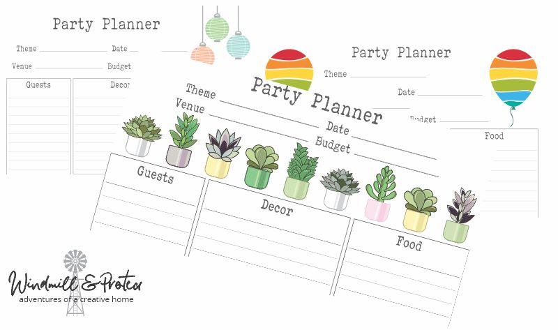 Party Planing Sheets
