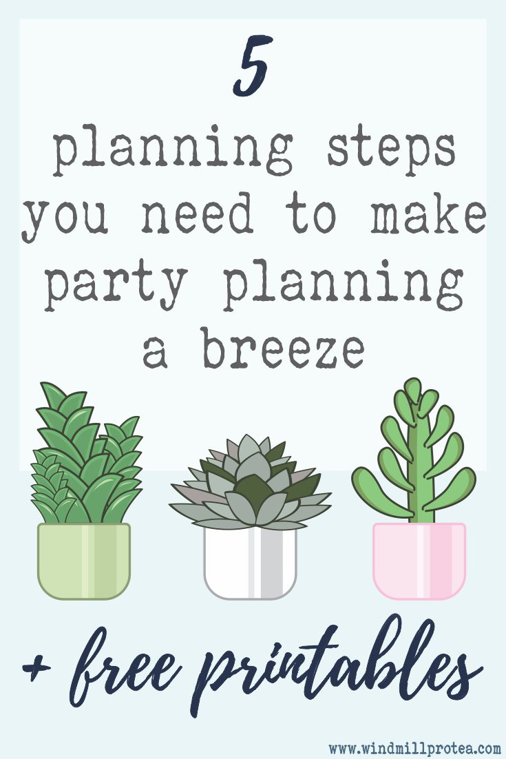 5 Planning steps you need to make party planning a breeze