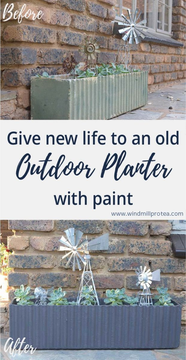Give new life to an old Outdoor Planter with paint