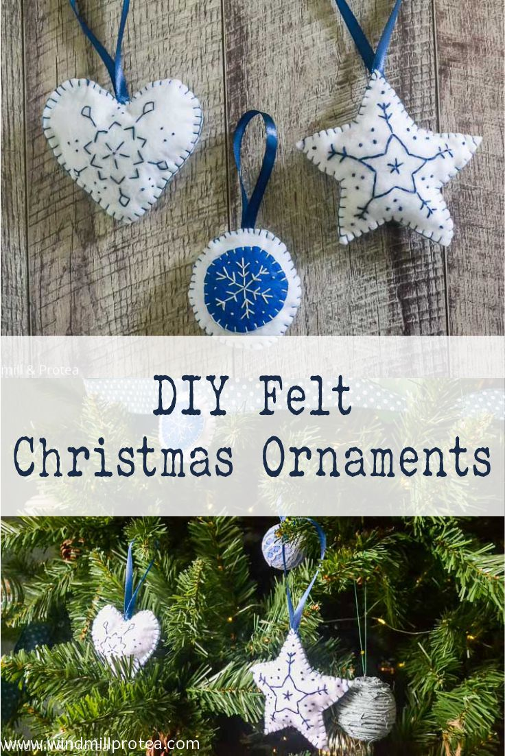 DIY Felt Christmas Ornaments | www.windmillprotea.com