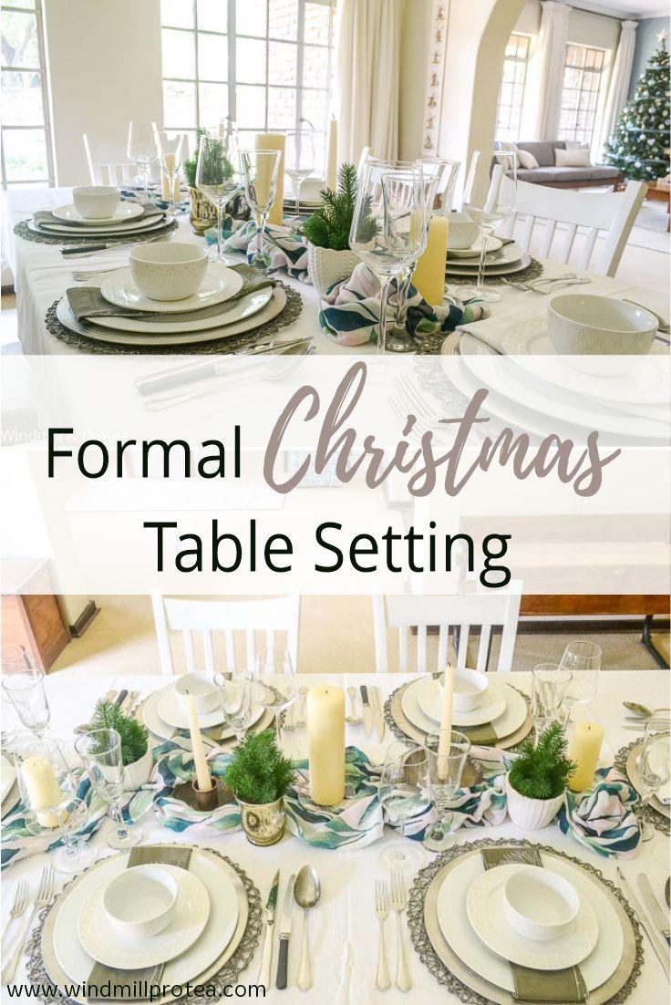 Forma Christmas Table Setting