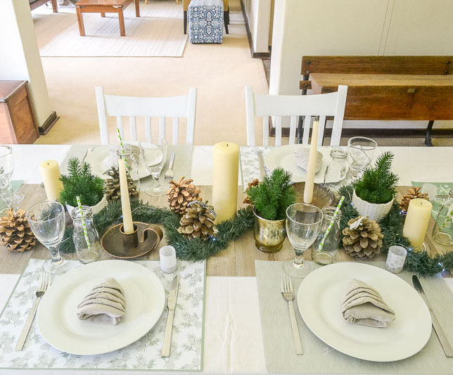 Informal Christmas Table | www.windmillprotea.com