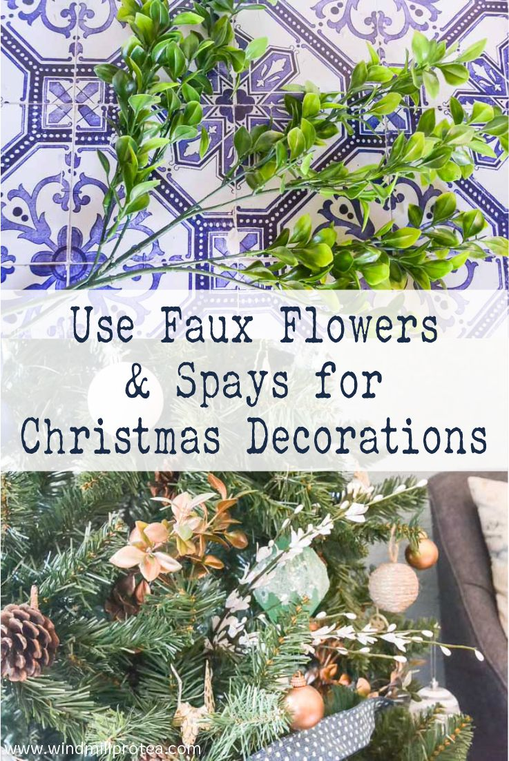 Use Faux Flowers & Sprays for Christmas Decor