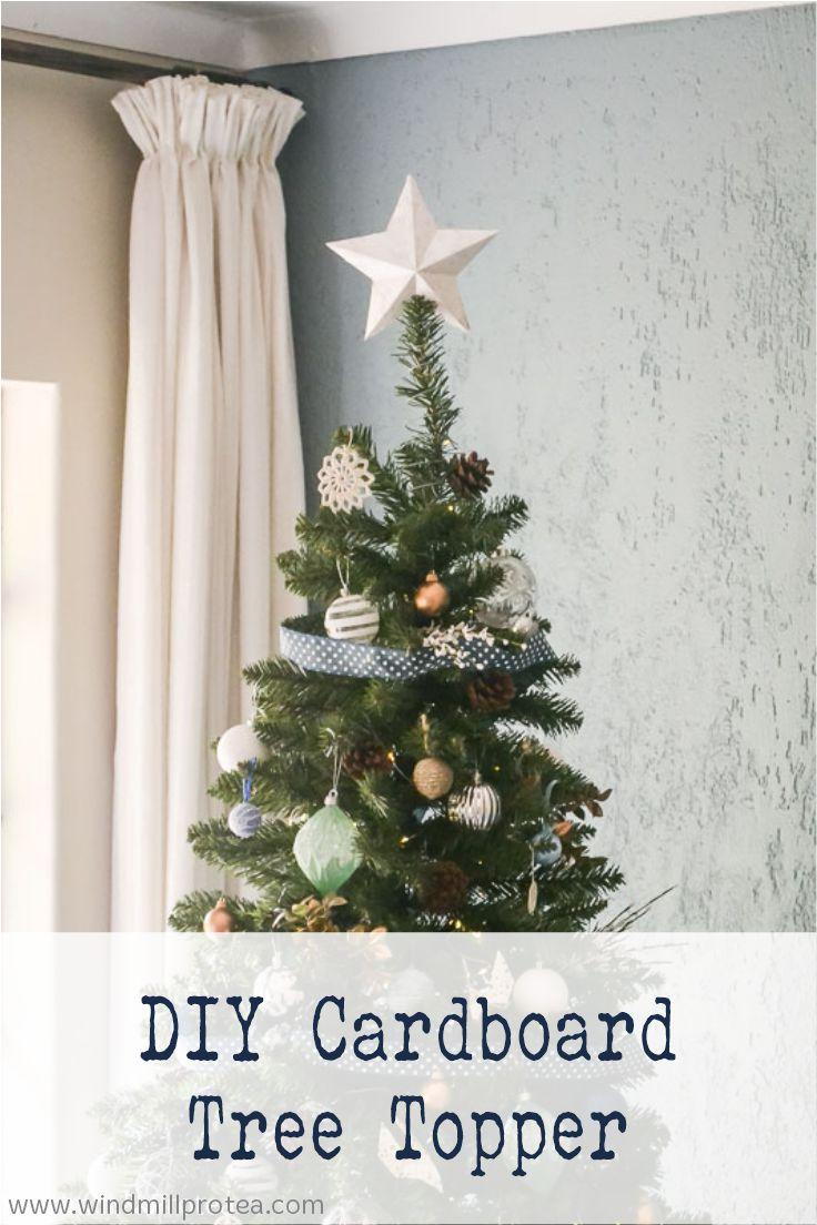 DIY Cardboard Tree Topper