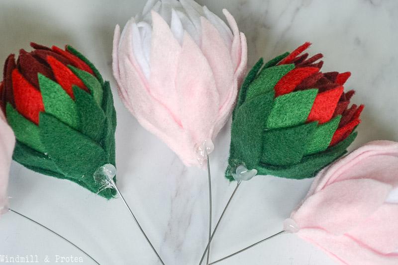 Felt Protea Stems | www.windmillprotea.com