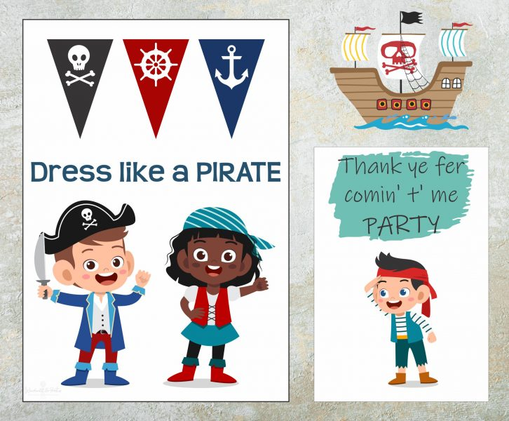 Friendly Pirate Themed Birthday Party with Free Printables | www.windmillprotea.com