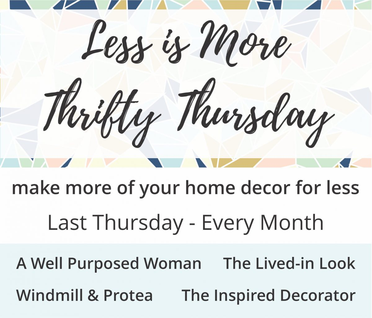 Less is more Thrifty Thursday | www.windmillprotea.com