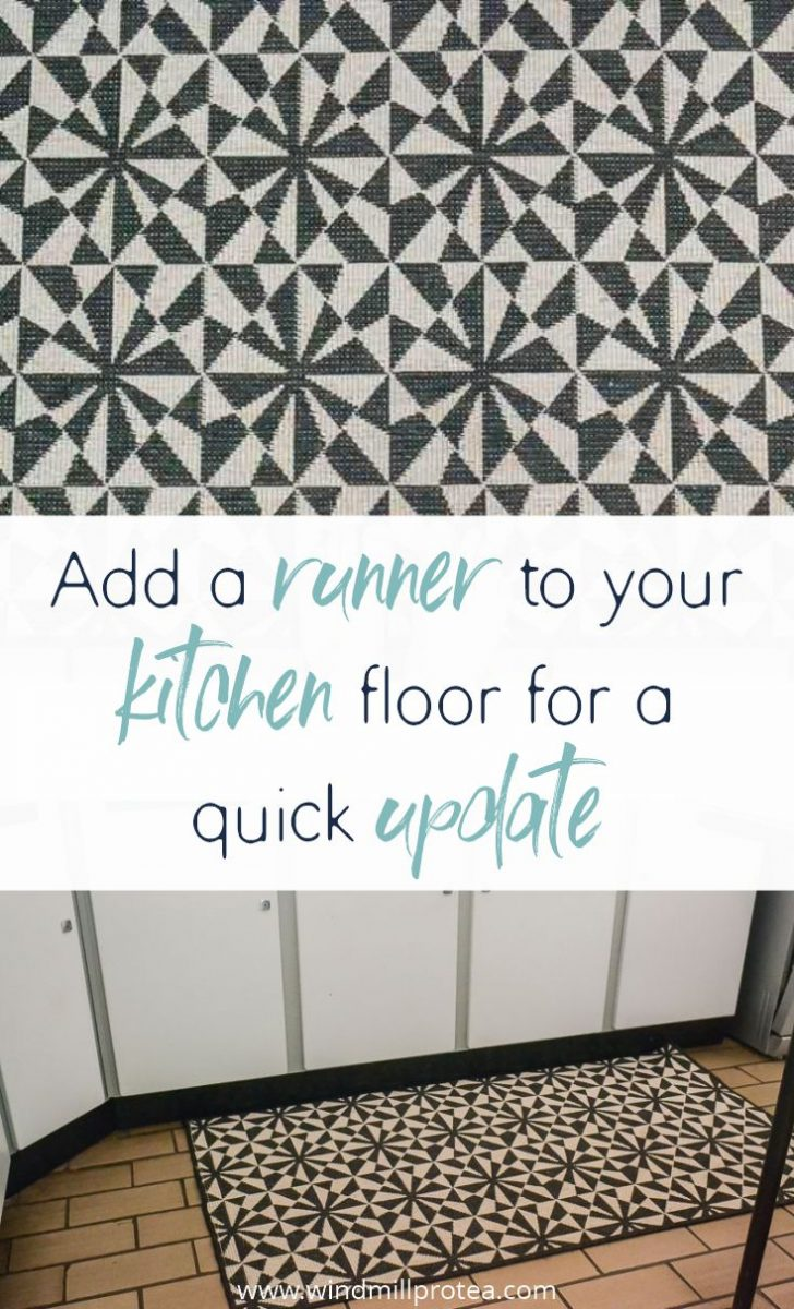 Add a runner to your kitchen floor for a quick update | www.windmillprotea.com