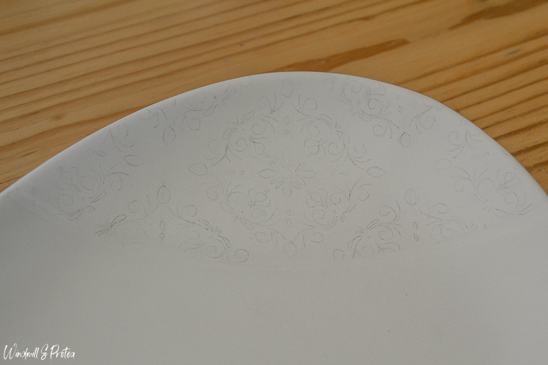 Draw pattern in pencil before painting | www.windmillprotea.com