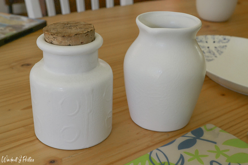 Jug and Canister Painted White | www.windmillprotea.com