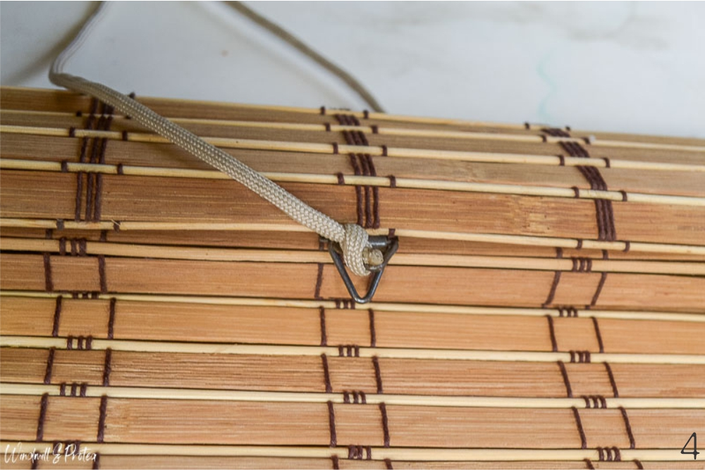 Tie cord to triangular hook | www.windmillprotea.com