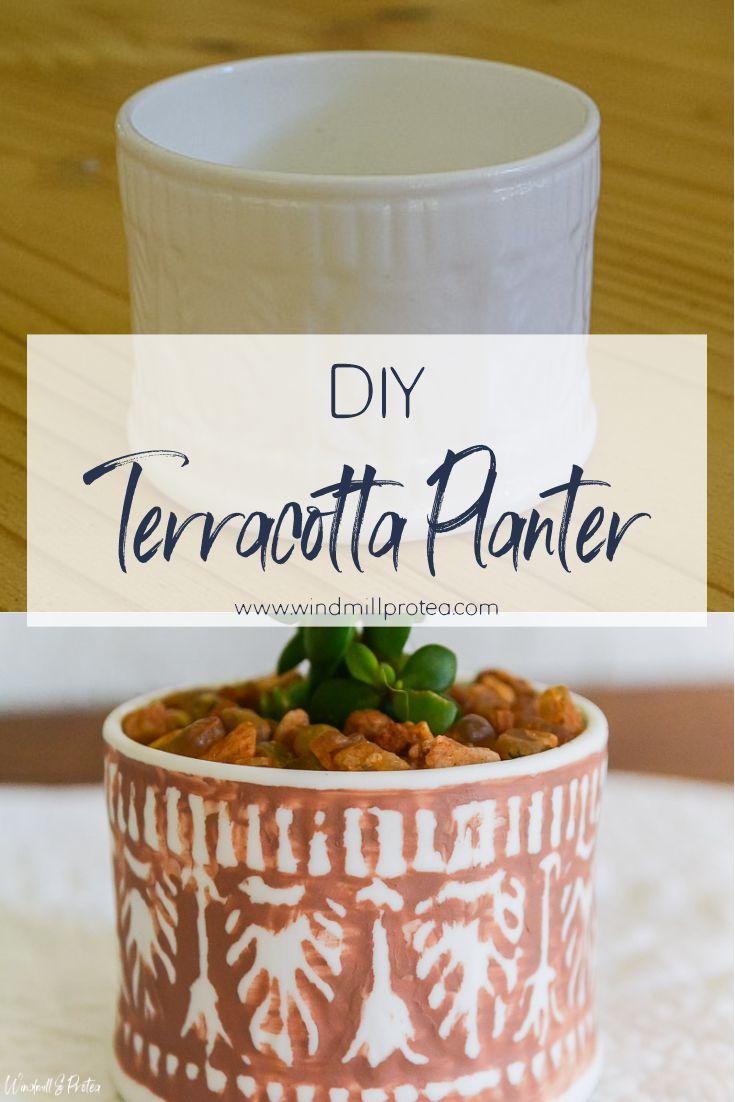 Mini DIY Boho Terracotta Succulent Planter | www.windmillprotea.com