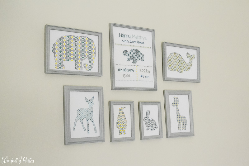 Cross Stitch Gallery Wall, Animal Silhouettes | www.windmillprotea.com