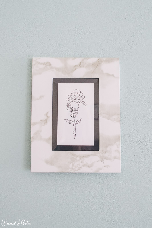Marble Look Frames - Free floral Printable | www.windmillprotea.com