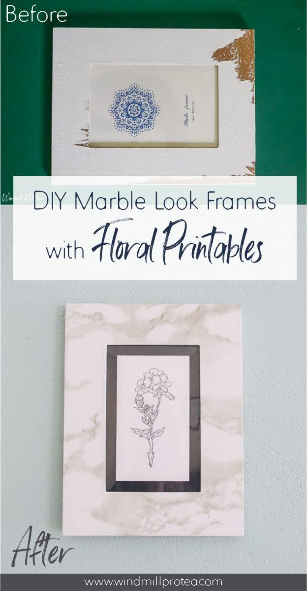 DIY Marble Look Frames | www.windmillprotea.com