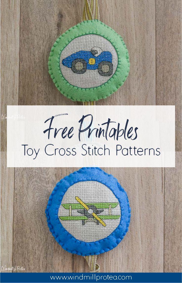 Cute Toy Cross-Stitch Patterns for your Kid's Room