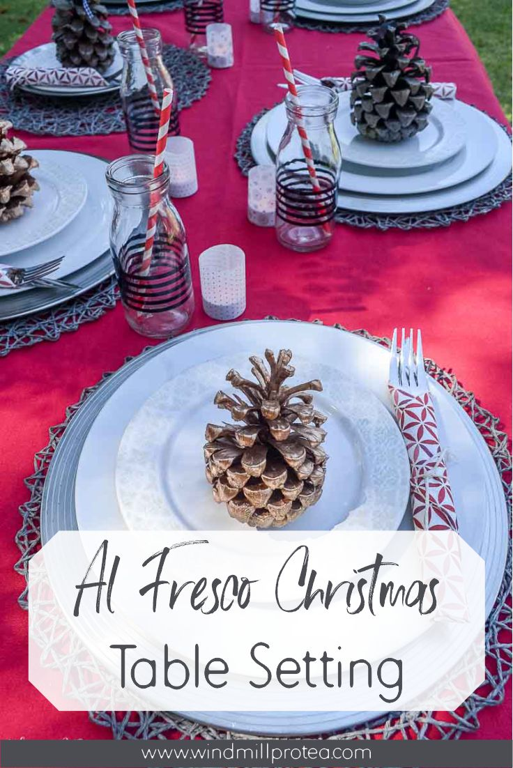Al Fresco Christmas Table Setting | www.windmillprotea.com