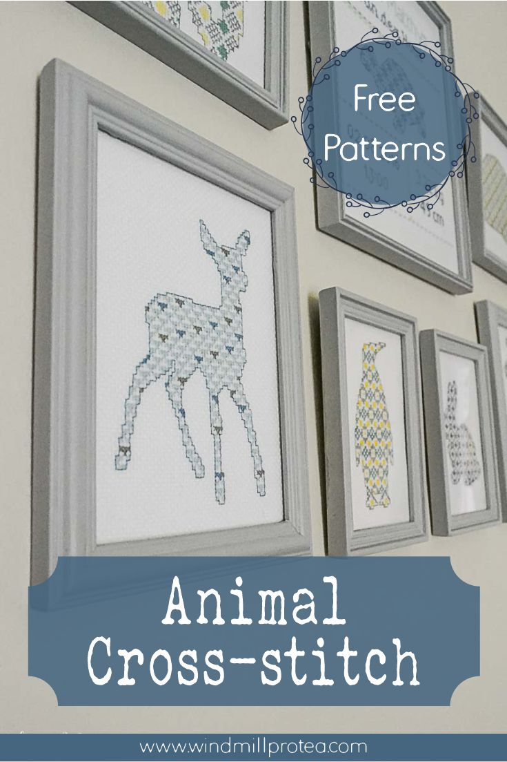 Cute Animal Cross-stitch with free patterns | www.windmillprotea.com