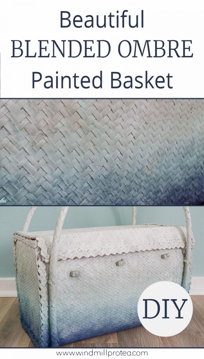 Beautiful DIY Ombre Painted Basket | www.windmillprotea.com
