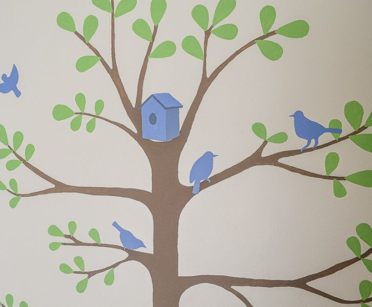How to Paint a Tree Mural | www.windmillprotea.com