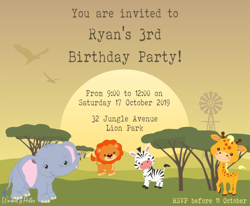 Party Invitation | www.windmillprotea.com
