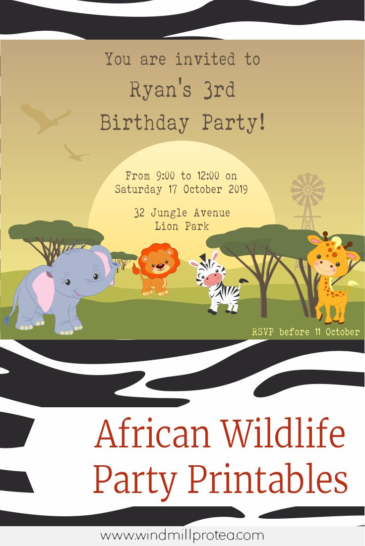 Wild Animal Themed Birthday Party with free Printables | www.windmillprotea.com