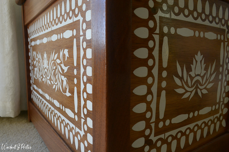 Faux Bone Inlay Chest - Closeup detail | www.windmillprotea.com